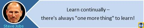"Steve Jobs quotes: Learn continually � there's always ""one more thing"" to learn!"