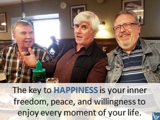 Vadim Kotelnikov happiness quotes, photogram; The key to happiness is your inner freedom, peace, and willingness to enjoy every moment of your life.