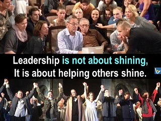Best Leadership quotes Vadim Kotelnikov Leadership is not about shining, it is about helping others shine.
