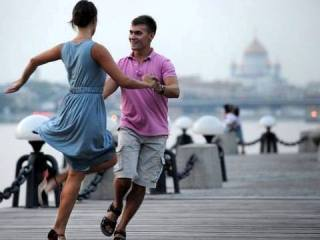 Joyfull Russia photos: Free dancing classes in Moscow