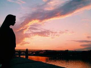 Beautiful Sunset, Girl, Moscow, Russia, Vladlena Varlamova